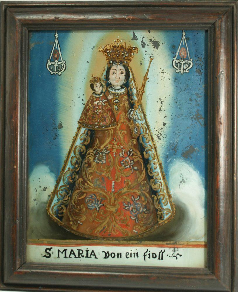 Hinterglasbild Maria Einsiedeln