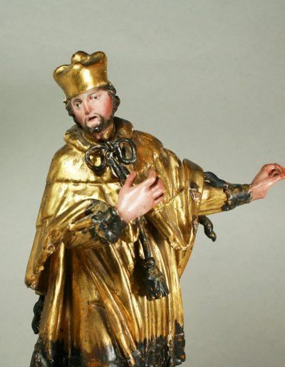 eine barocke Heiligenfigur
