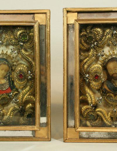 Klosterarbeiten mit Maria und Christus